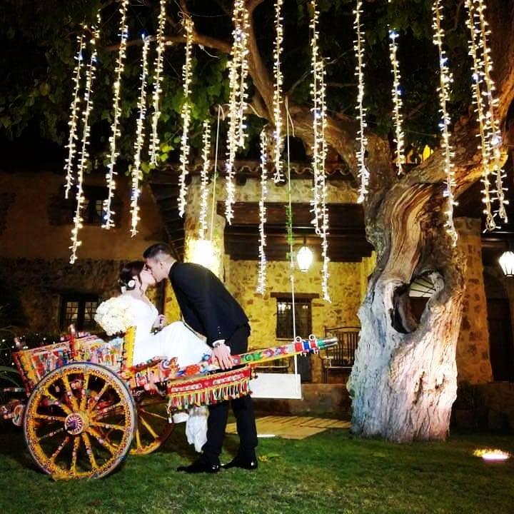 carretto siciliano sposi