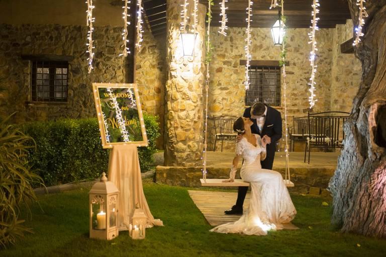 albero luci pendenti matrimonio