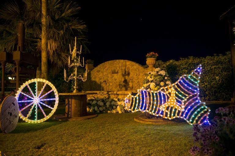 luminarie sicilia ruota matrimonio