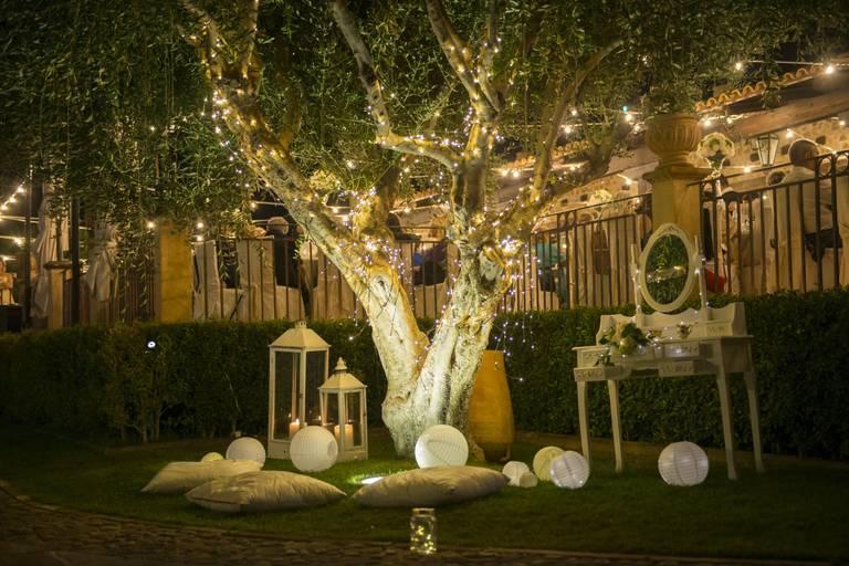 albero luminoso matrimonio