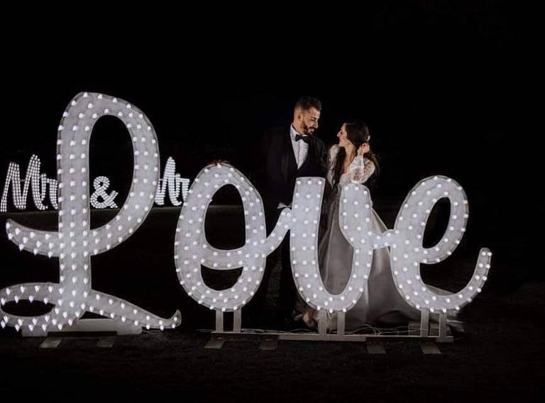 scritta love matrimonio corsivo