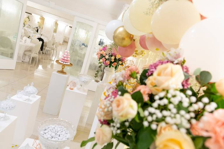 fiori decorazione confettata