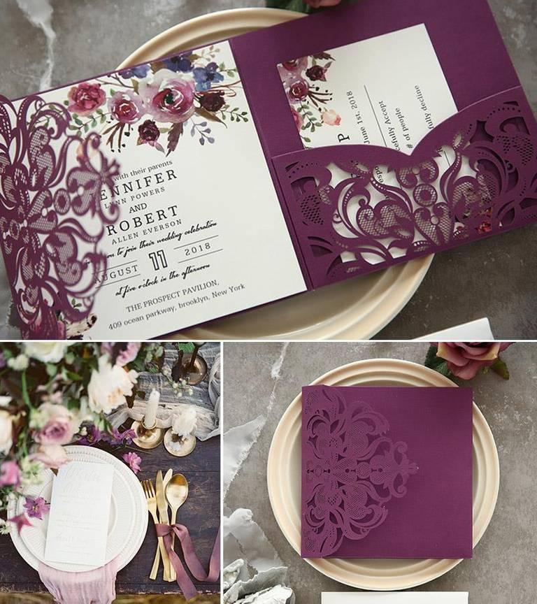 partecipazioni gioia carta purple