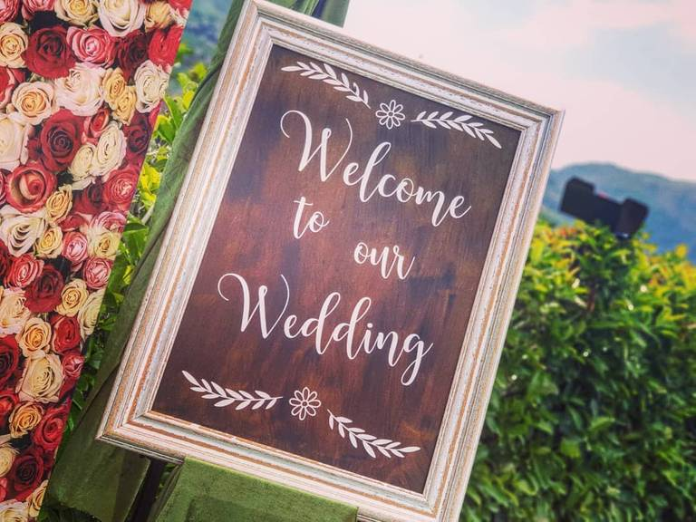 welcome board photobooth