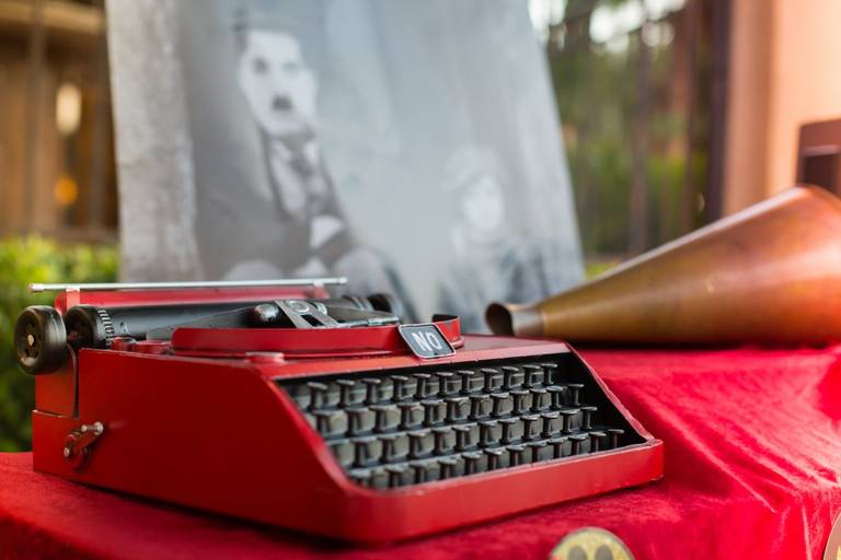 Matrimonio tema cinema macchina da scrivere