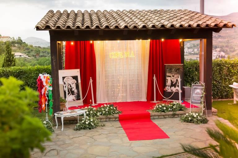 Matrimonio tema cinema photobooth