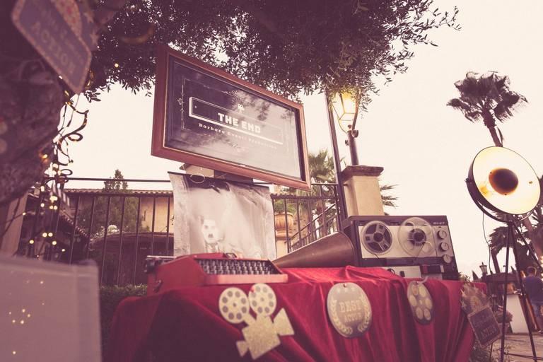 Matrimonio tema cinema tableau digitale