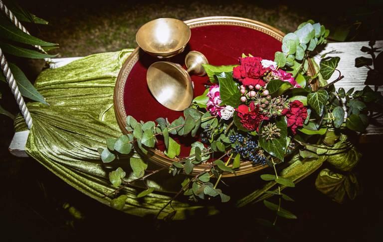 coppe fiori velluto