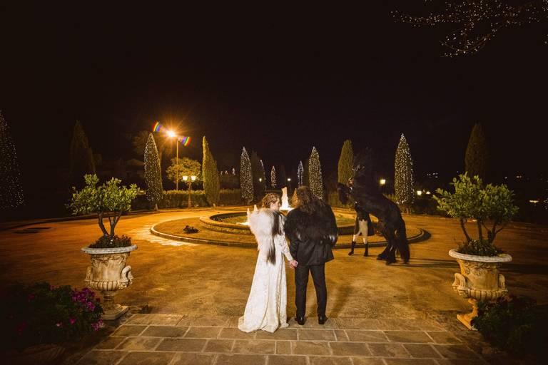 sposi tenuta scozzari