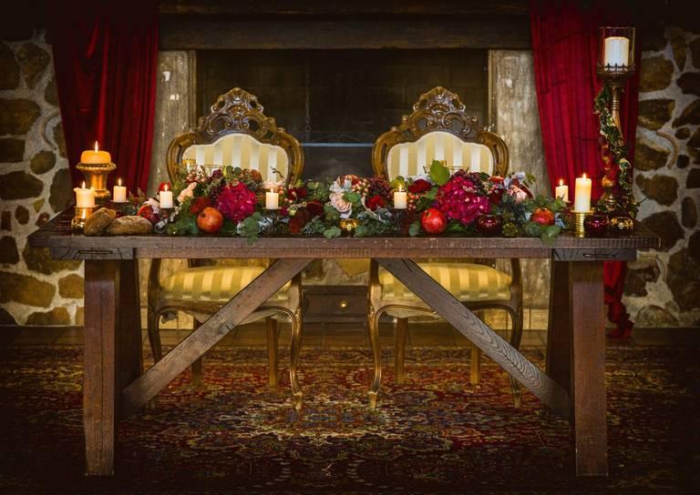decorazione tavolo sposi
