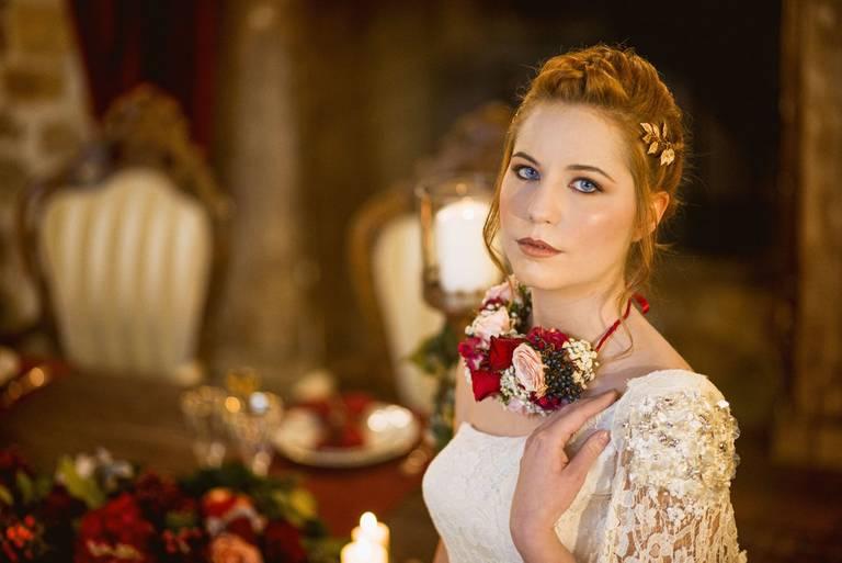 collana di fiori sposa
