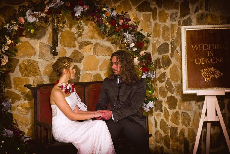 cerchio di fiori matrimonio