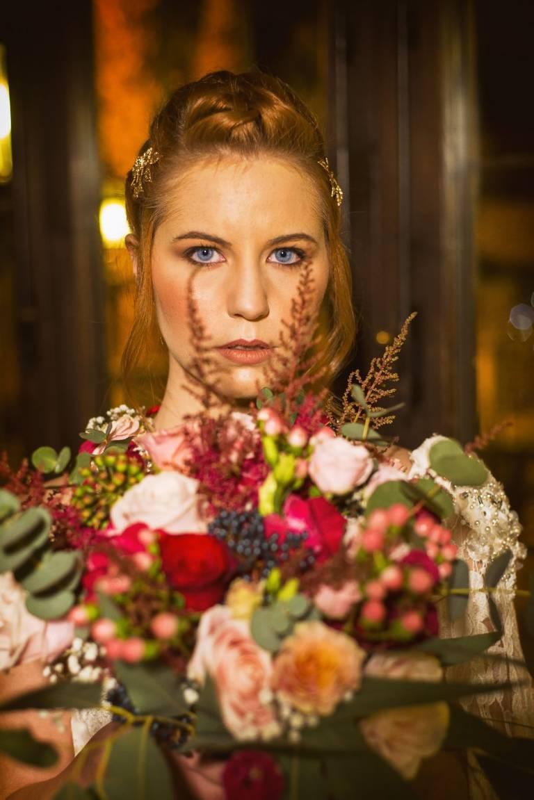 bouquet sposa borgogna