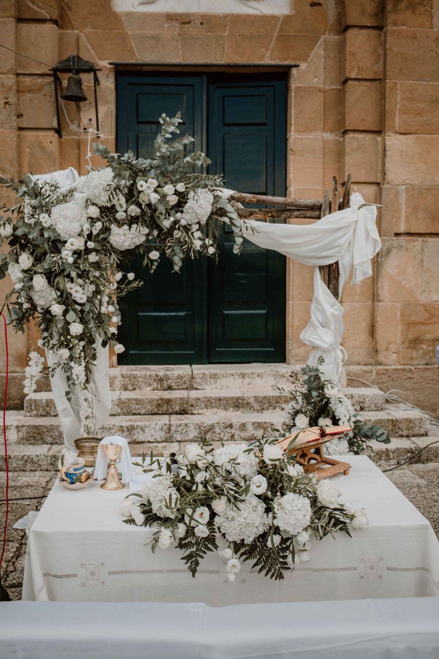arco legno mensa sposi