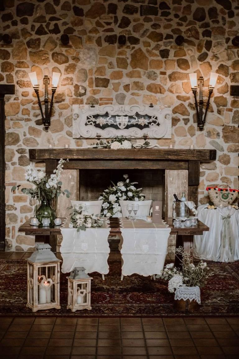 tavolo sposi tenuta scozzari