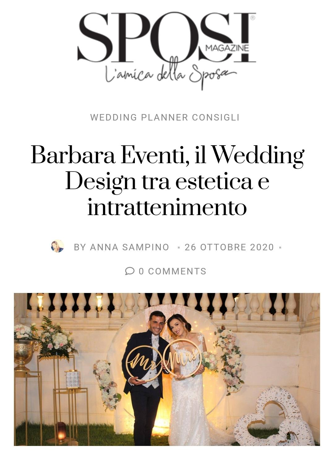 sposi magazine barbara eventi