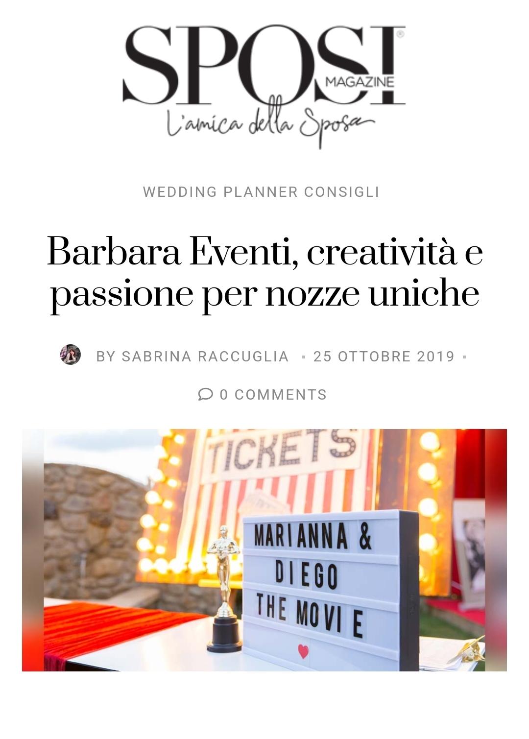 sposi magazine barbara