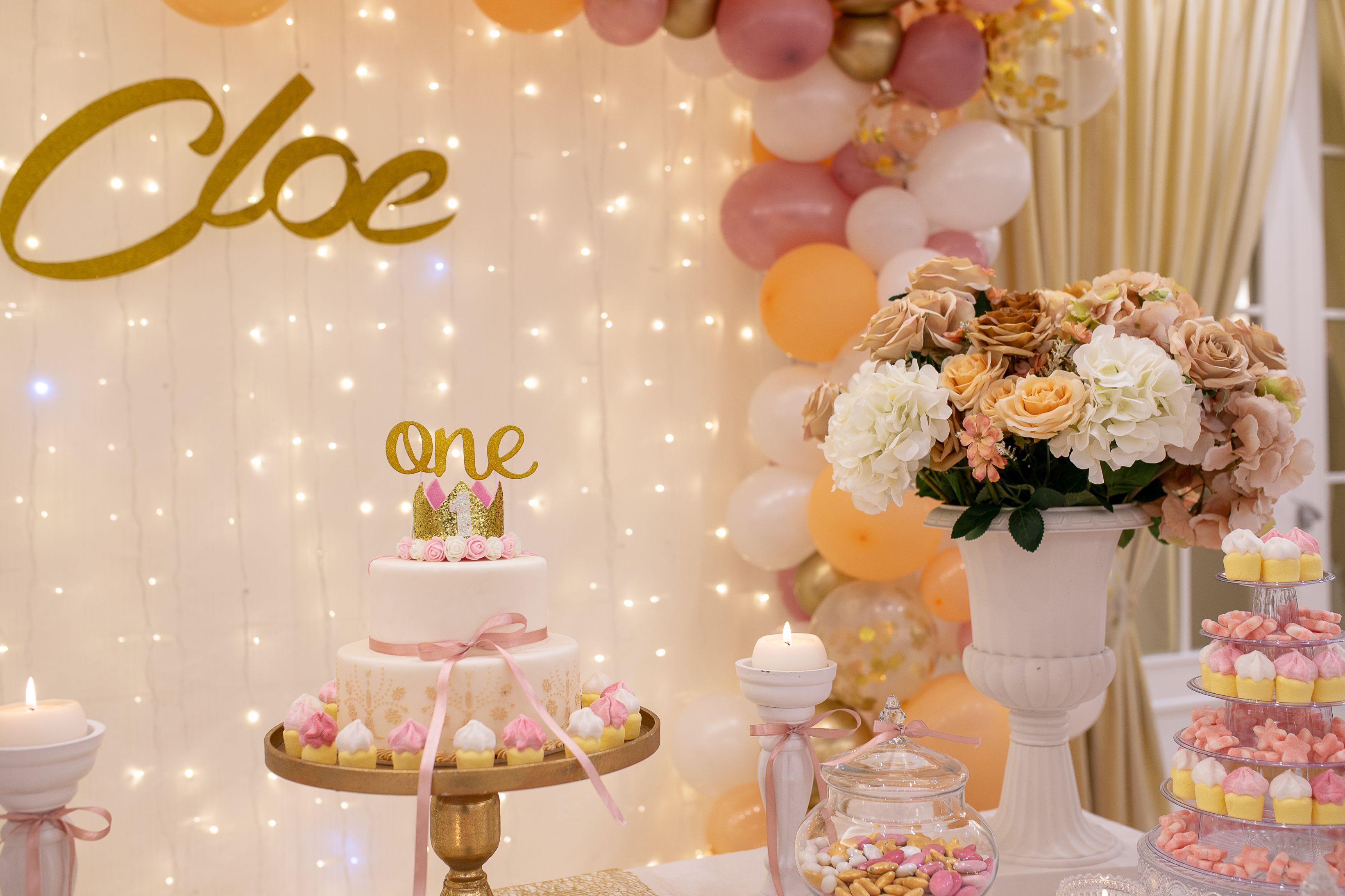 tavolo torta un anno