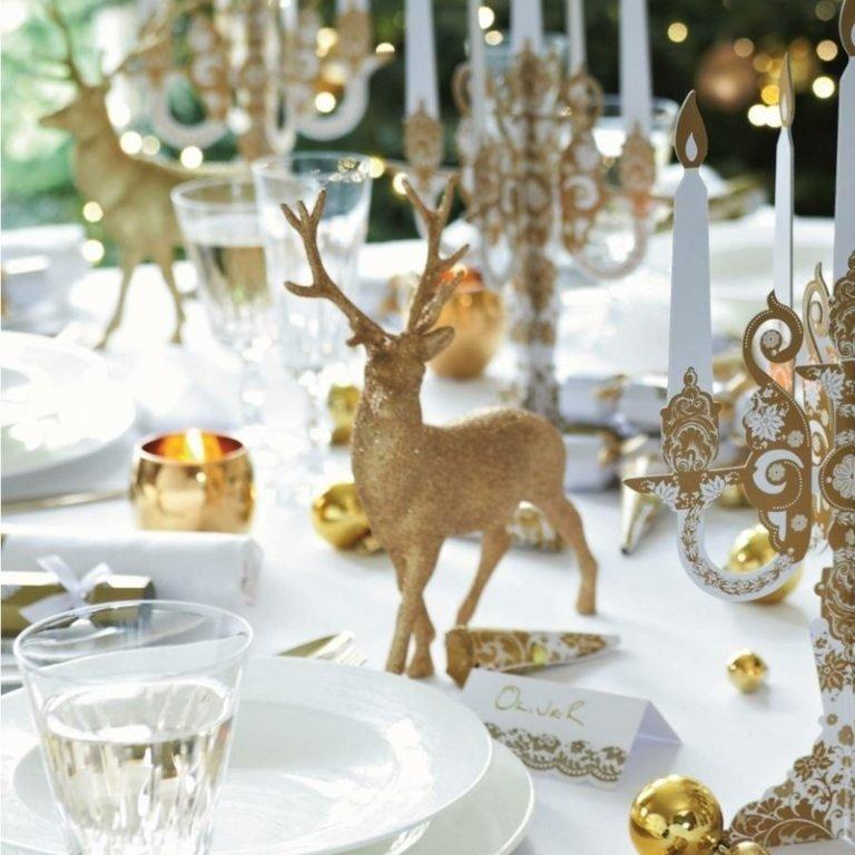 decori tavola natalizia
