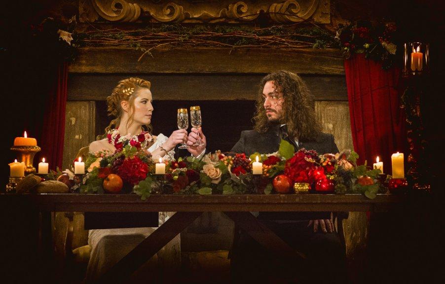 tavolo sposi composizione fiori