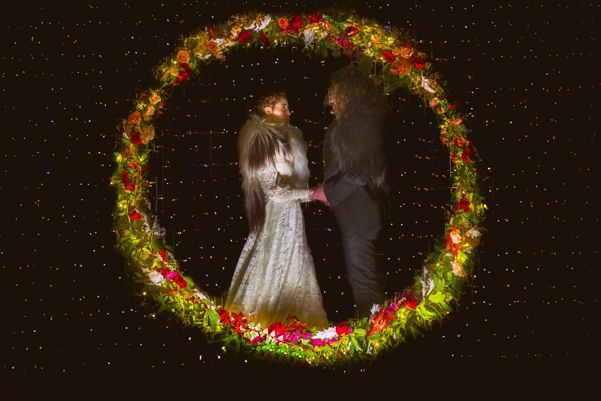 cerchio fiori matrimonio
