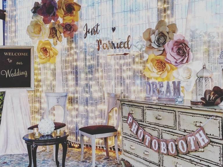 photobooth just married fiori carta