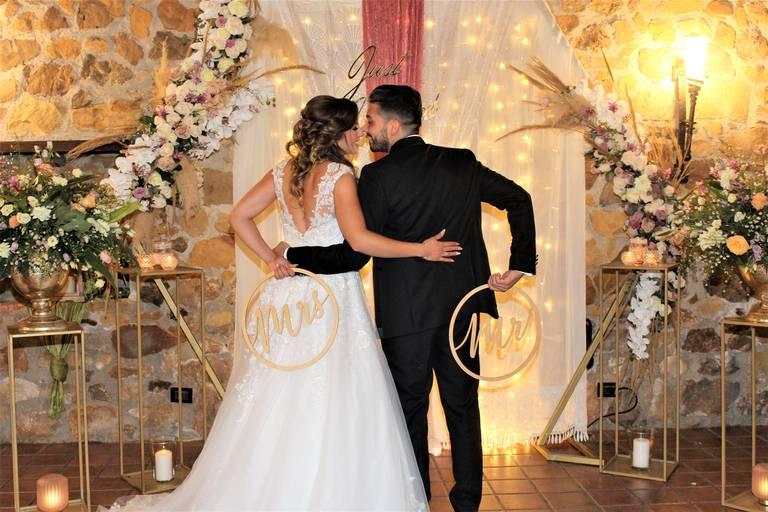 foto sposi angolo matrimonio