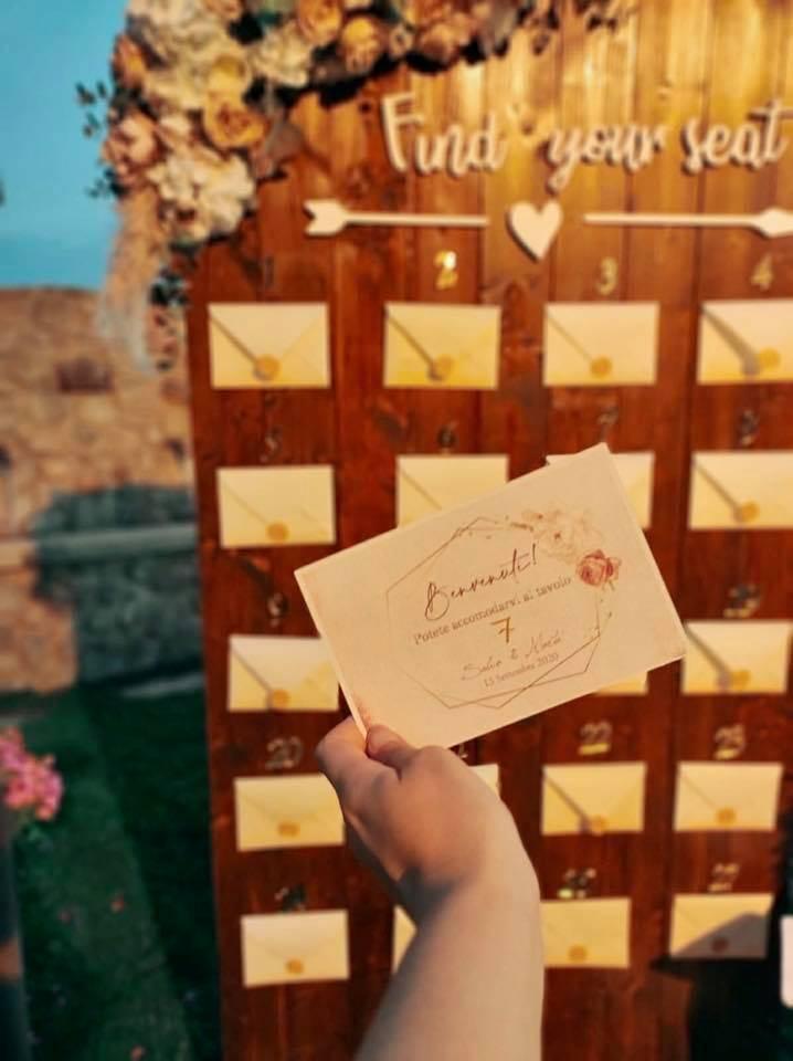 escort cards matrimonio