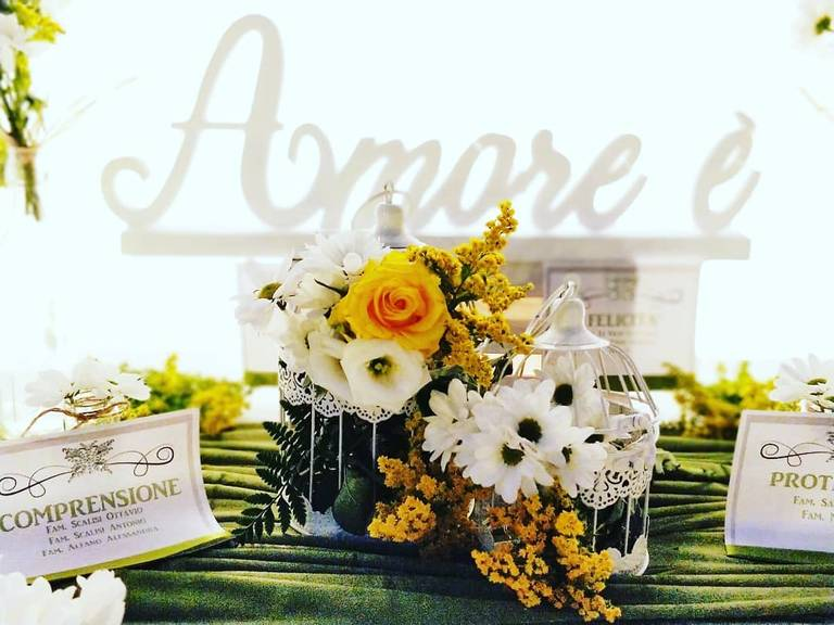 tableau de mariage amore fiori verde