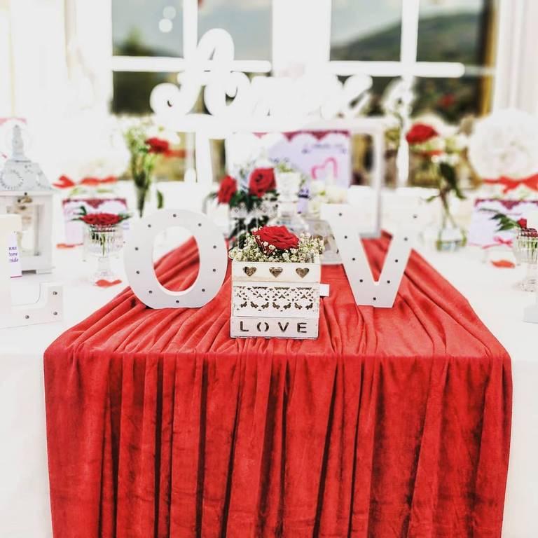 tableau de mariage love rosso