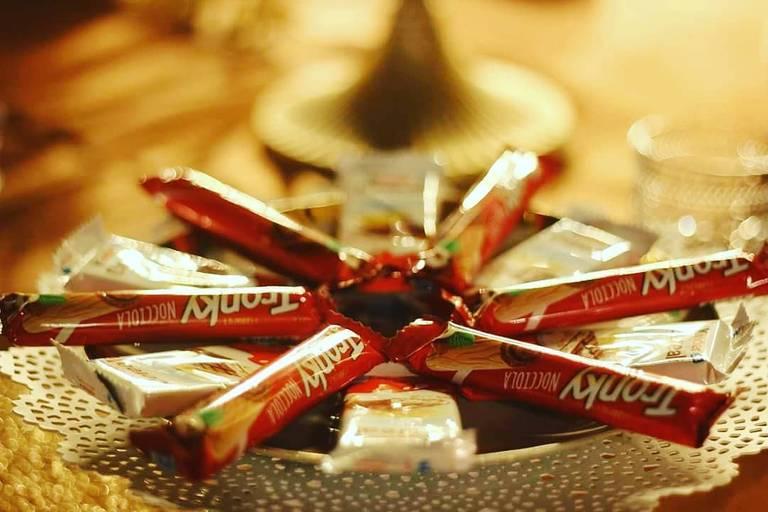 angolo cioccolato matrimonio kinder tronky